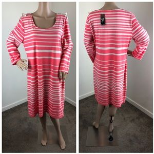 NEW Allison Brittney striped lace up dress